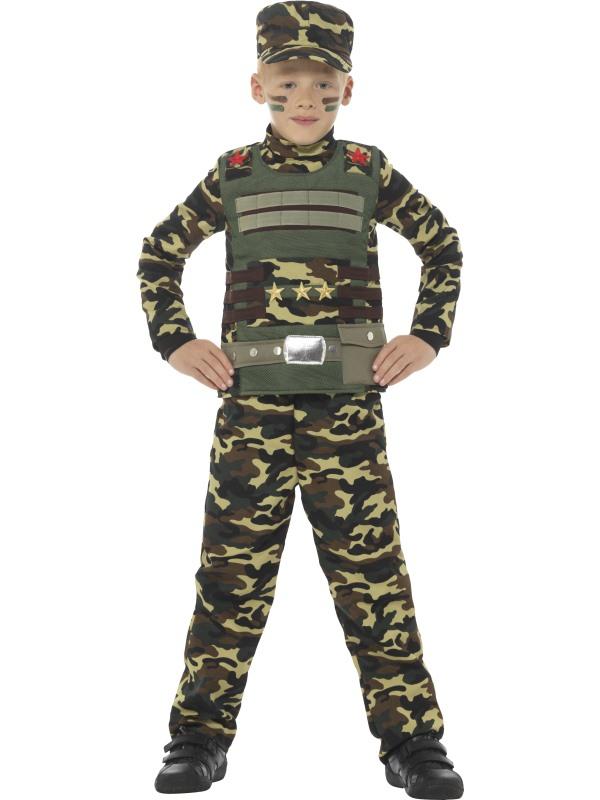 Camouflage Military Boy Leger Jongens Kostuum