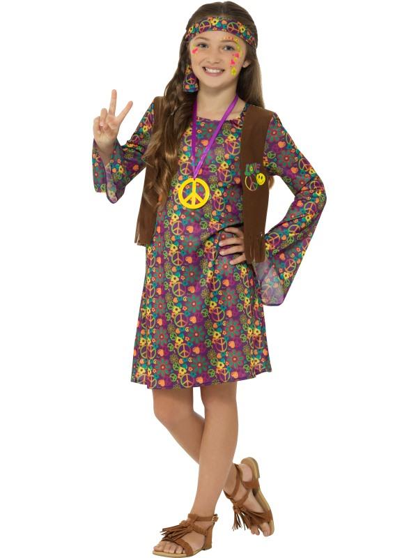 Hippie Girl Seventies Meisjes Kostuum