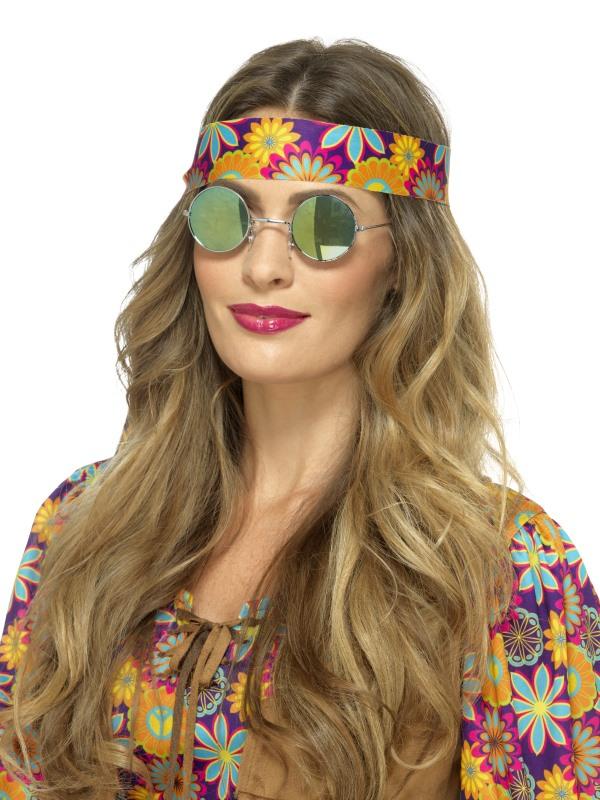 Hippie Bril Gespiegeld Groen/Blauw