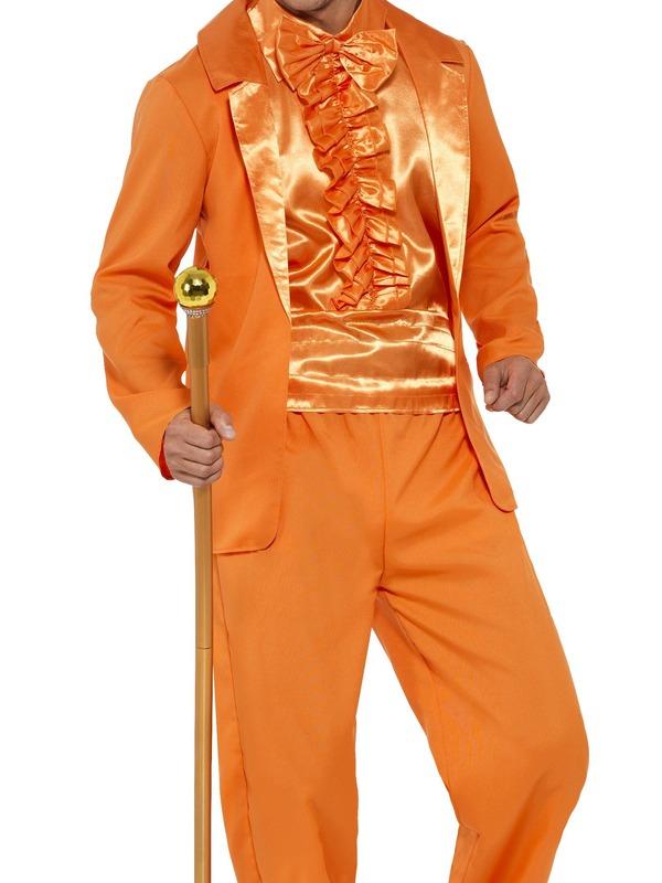 90s Stupid Tuxedo Kostuum Oranje