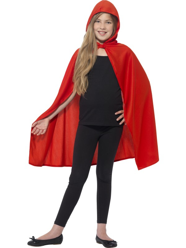 Hooded Cape Rood Kinder
