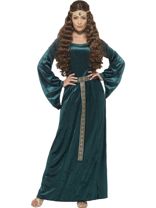 Medieval Maid Kostuum Groen