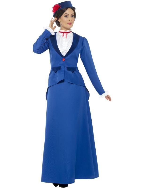 Victorian Nanny Kostuum 2-delig