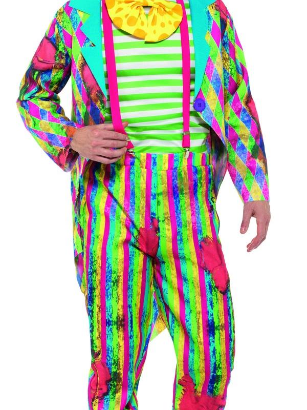 Deluxe Patchwork Clown Kostuum