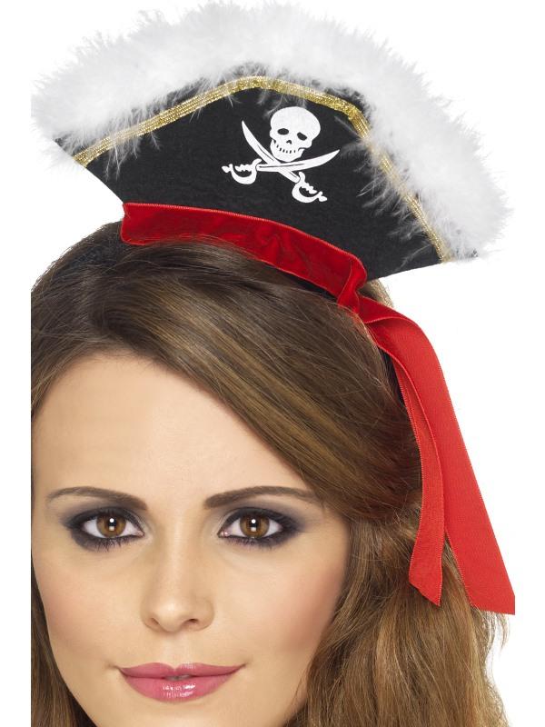 Mock Pirate Hoed op Diadeem