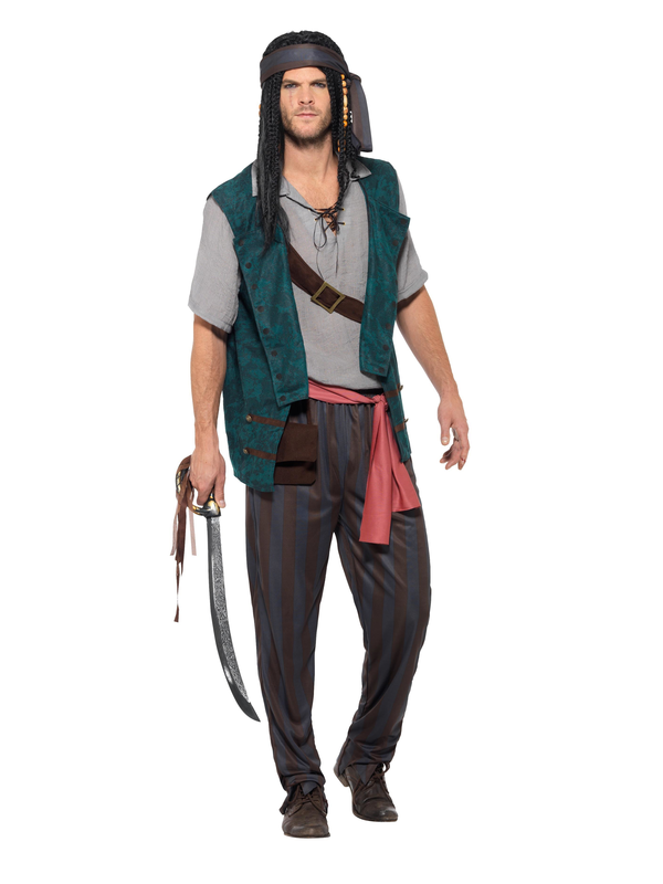 Pirate Deckhand Kostuum Heren