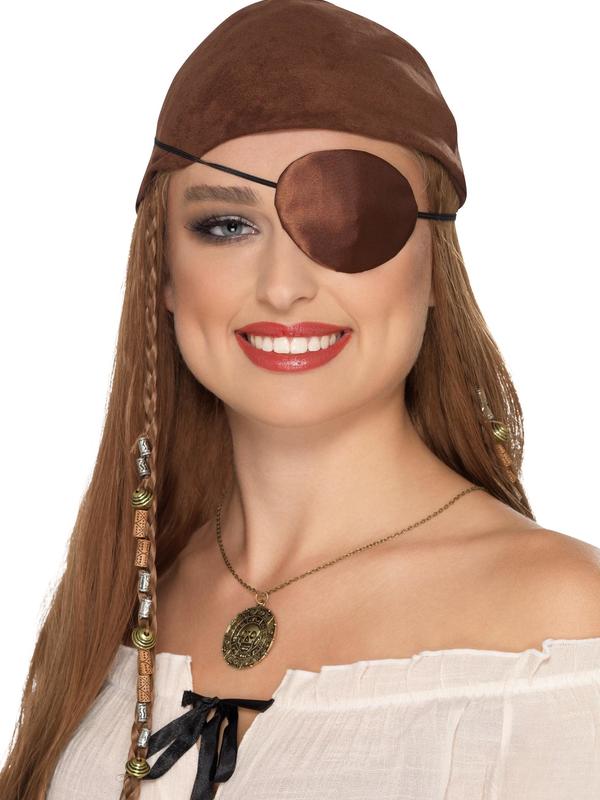 Deluxe Piraten Ooglap Bruin