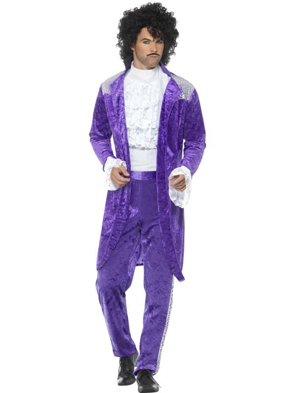 80s Purple Musician Kostuum