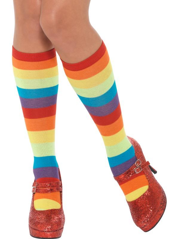 Rainbow Clown Sokken, Unisex