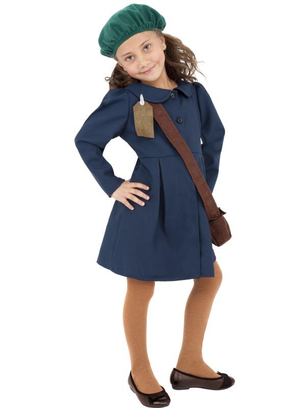 World War II Evacuee Girl Kostuum