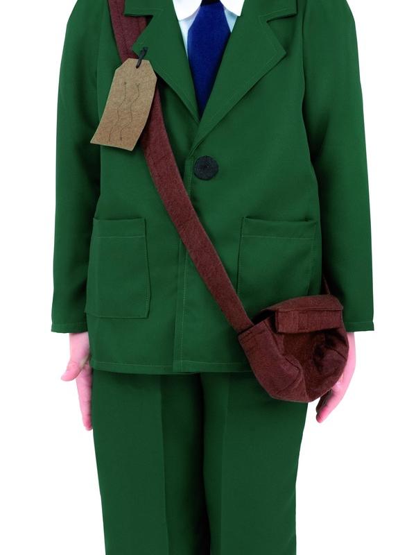 World War II Evacuee Boy kostuum Groen