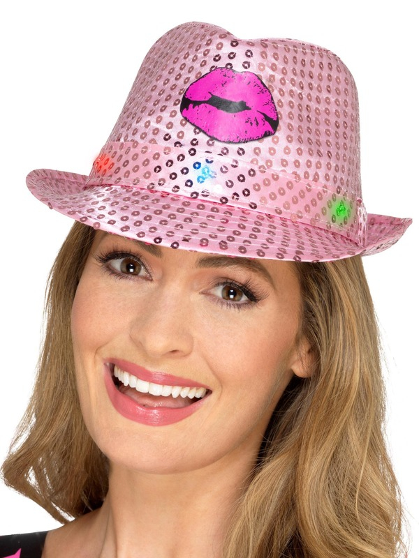 Light Up Sequin Hen Party Trilby Hoed