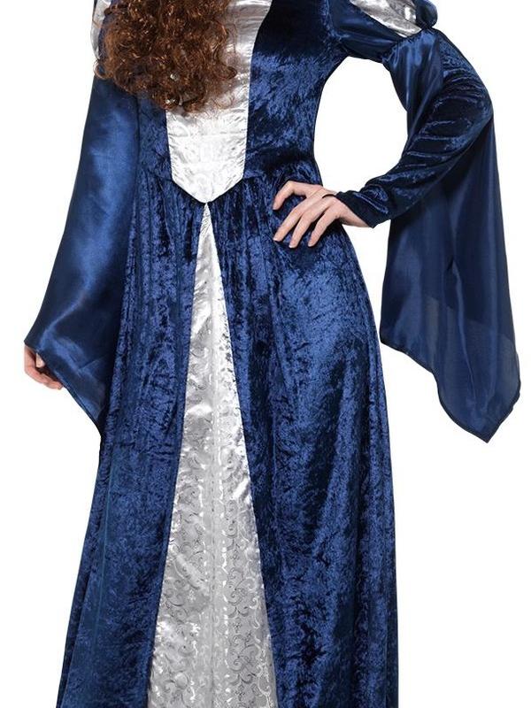 Medieval Maid Kostuum Blauw