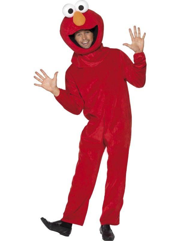 Sesamstraat Elmo Heren Verkleedkleding