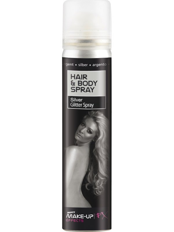 Hair and Body Spray Zilver Glitter