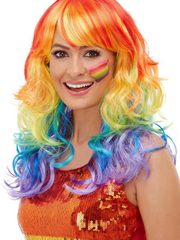Rainbow Glam Pruik