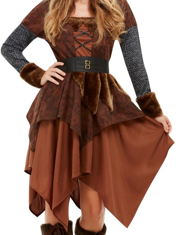 Viking Barbarian Queen Kostuum