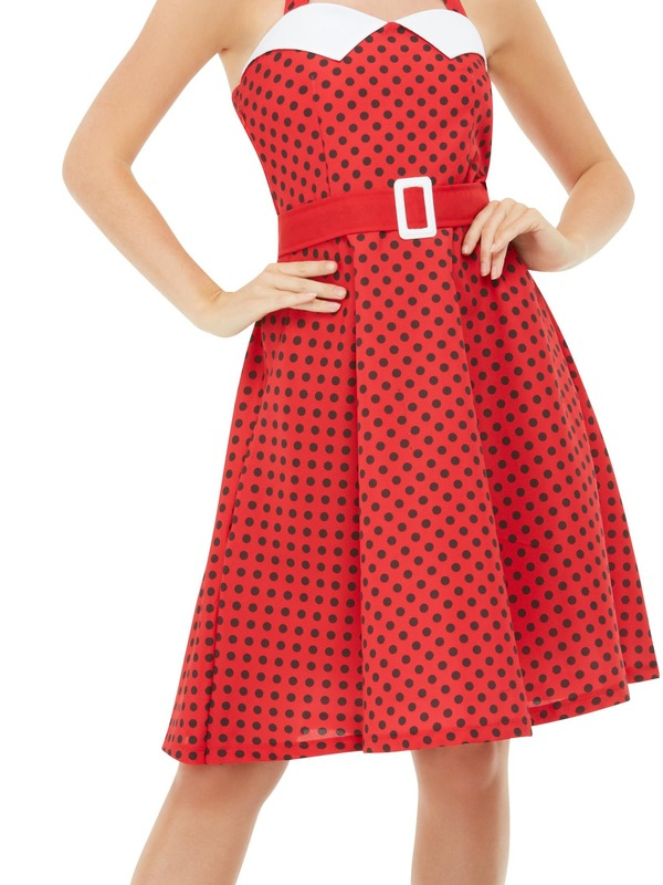50's Rockabilly Pin Up Kostuum Rood
