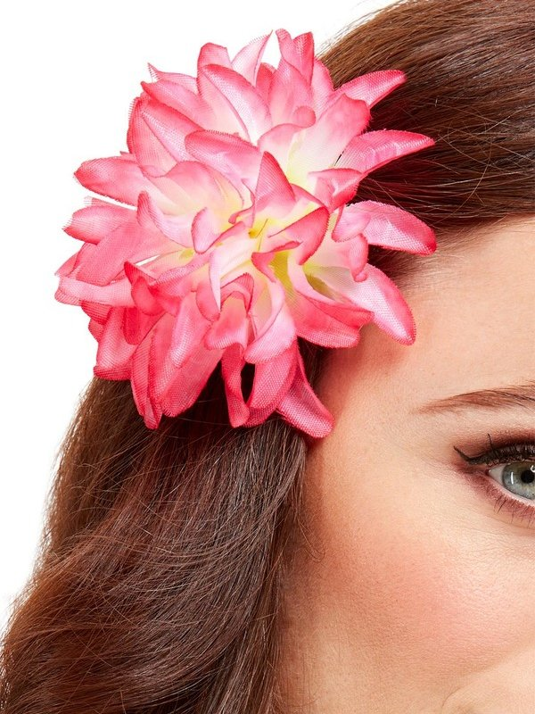 Tropical Hawaiian Flower Haar Clip