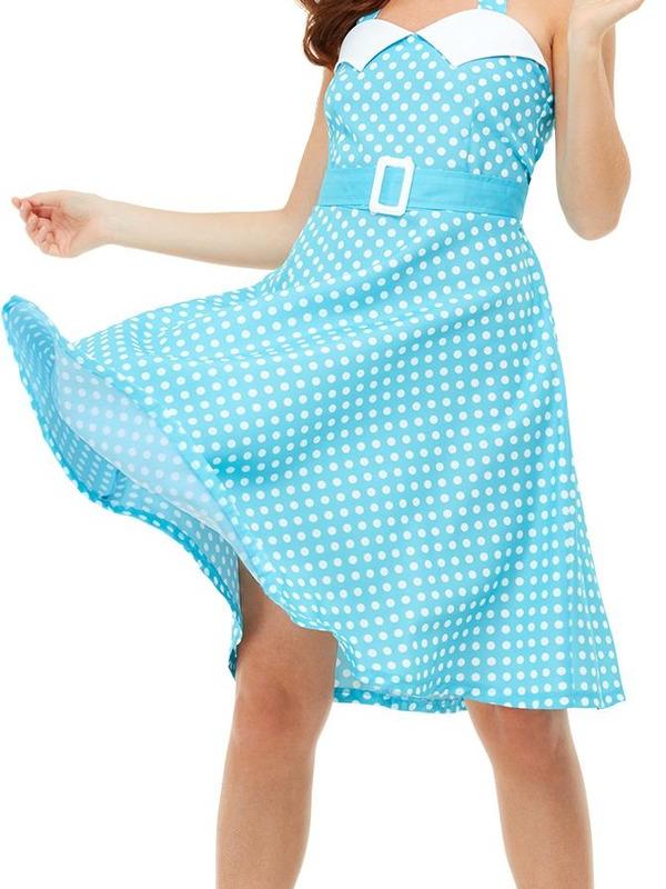 50s Pin Up Kostuum Blauw