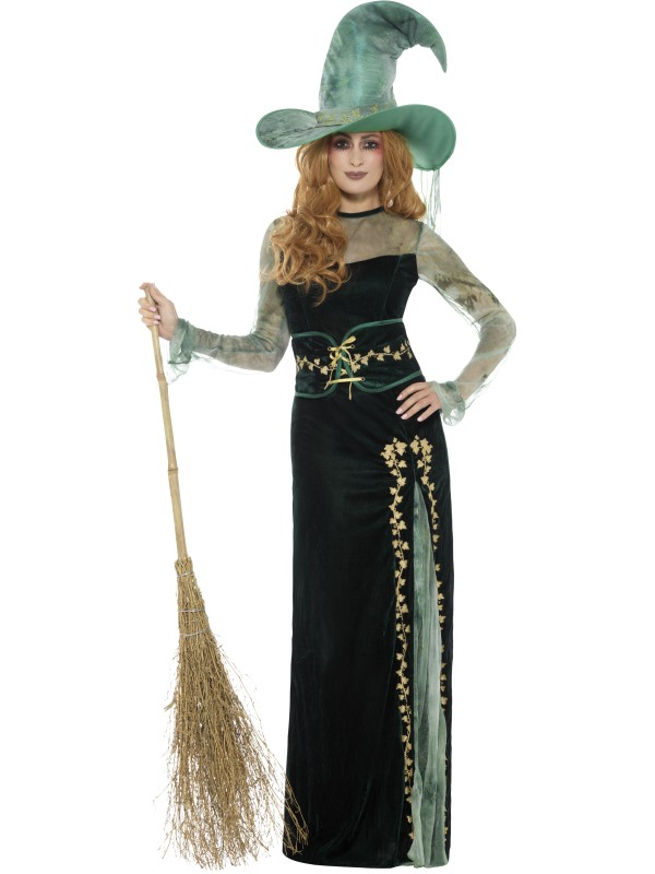 Deluxe Emerald Witch Kostuum