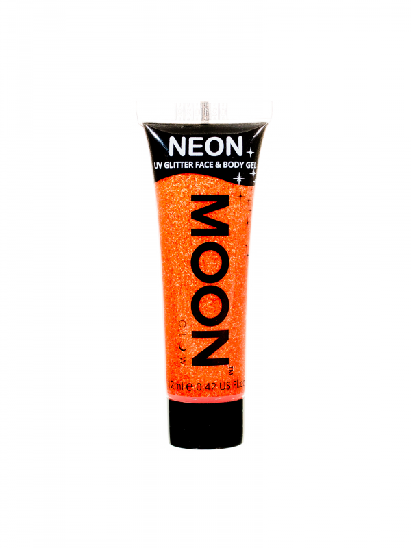Neon UV Face & Body Glitter Gel Oranje