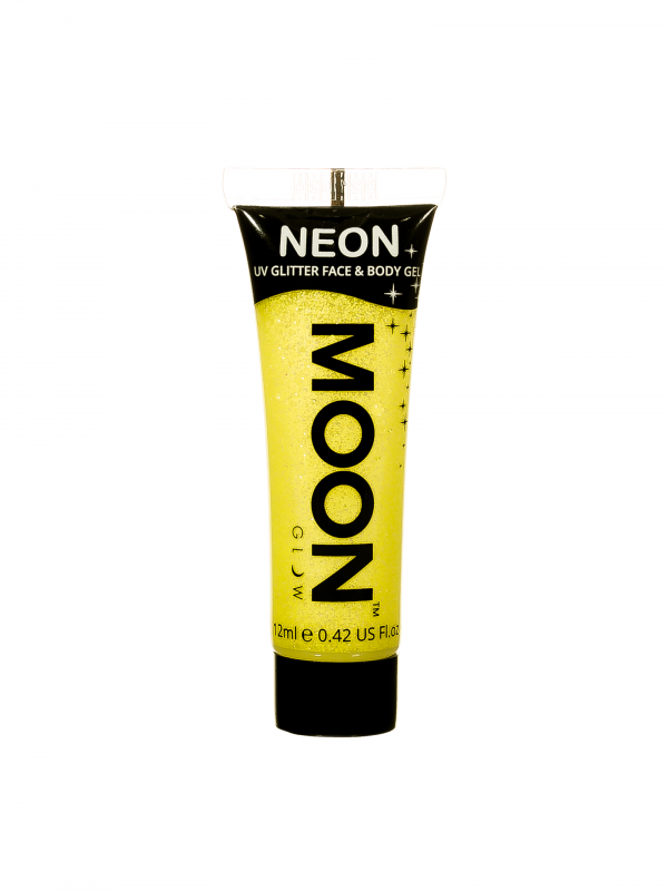 Neon UV Face & Body Glitter Gel Geel