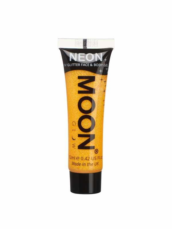 Neon UV Face & Body Glitter Golden Yellow