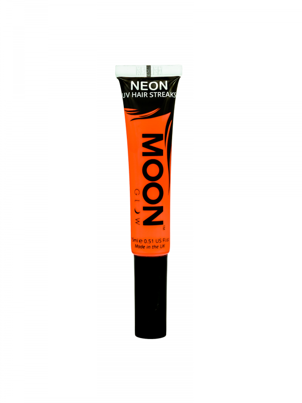 Neon UV Hair Streaks Gel Oranje