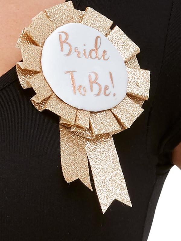 Deluxe Glitter Bride To Be Rosette