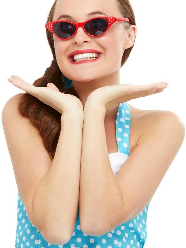 Flyaway Style Rock & Roll Sunglasses Rood