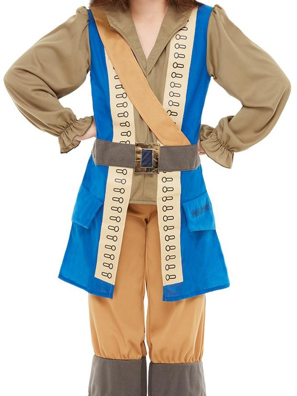 Horrible Histories Pirate Captain Kinder Kostuum
