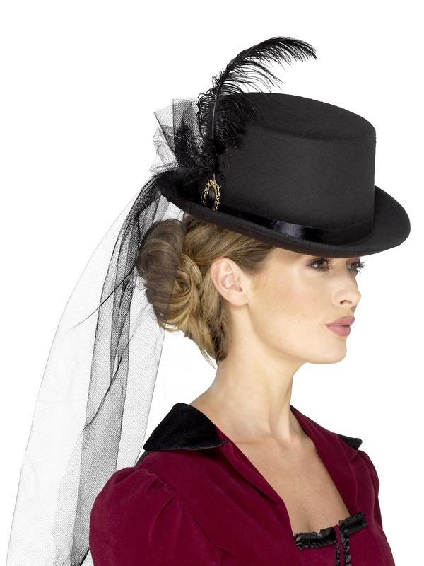 Deluxe Ladies Victorian Top Hoed