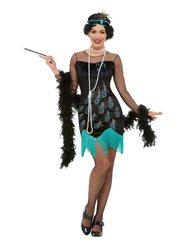 20s Peacock Flapper Kostuum
