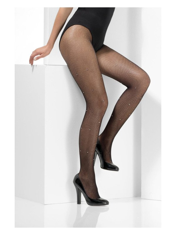 Crystallised Fishnet Panty Zwart