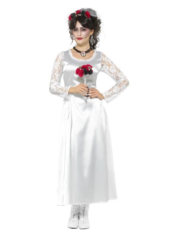 Day of the Dead Bride Kostuum Wit