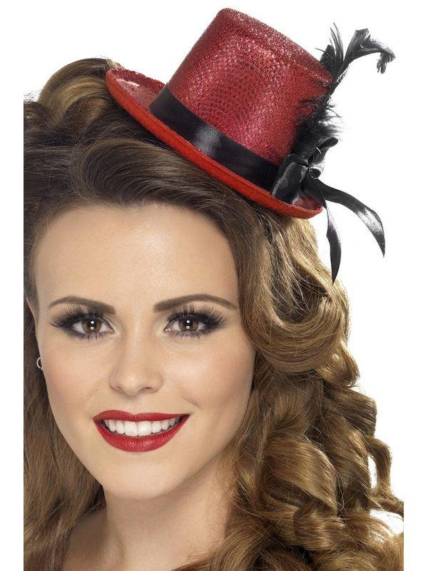 Mini Tophoed, Rood met kant en veer