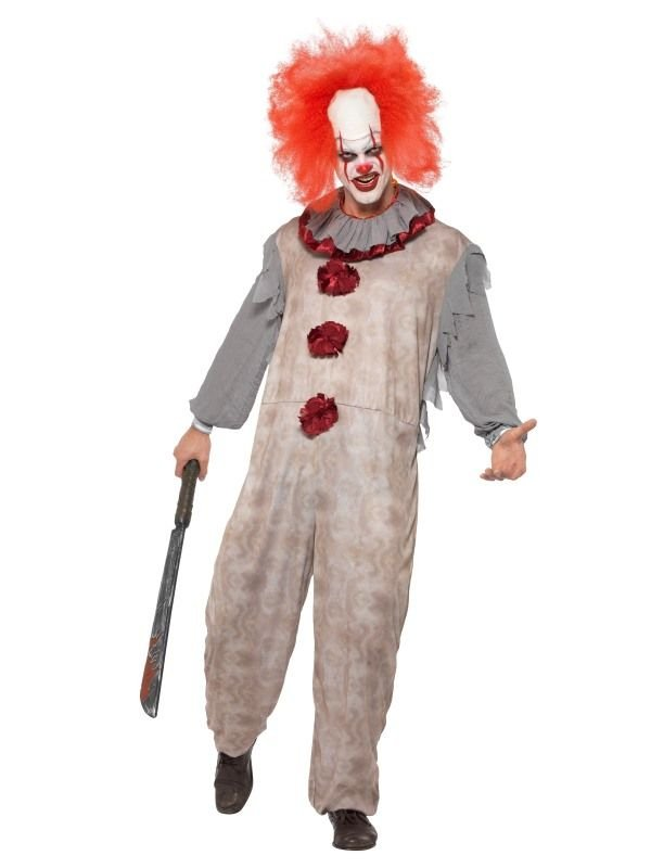 Vintage Clown Heren Kostuum