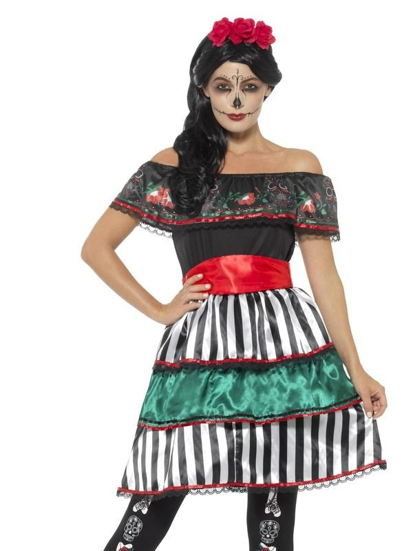 Day of the Dead Senorita Doll Kostuum