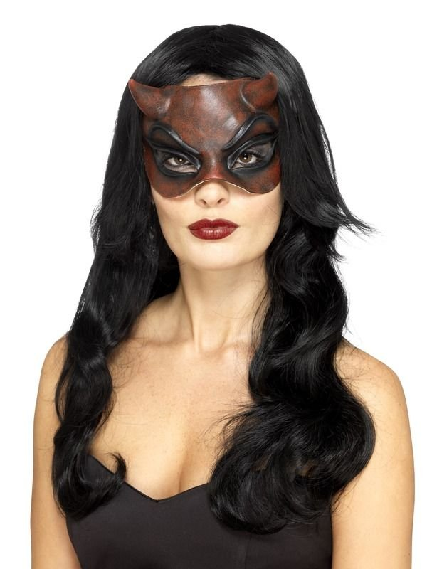Masquerade Devil Mask Dames, Latex