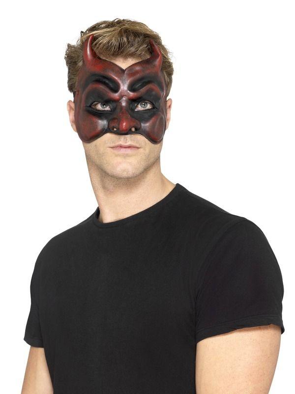 Masquerade Devil Masker Heren, Latex
