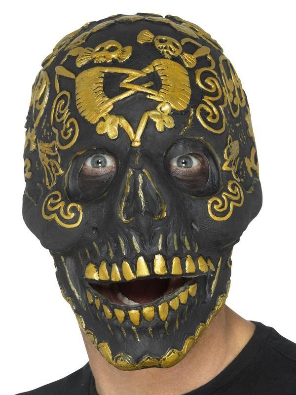 Deluxe Masquerade Skull Masker