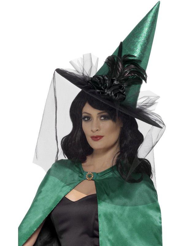 Deluxe Heksenhoed Groen