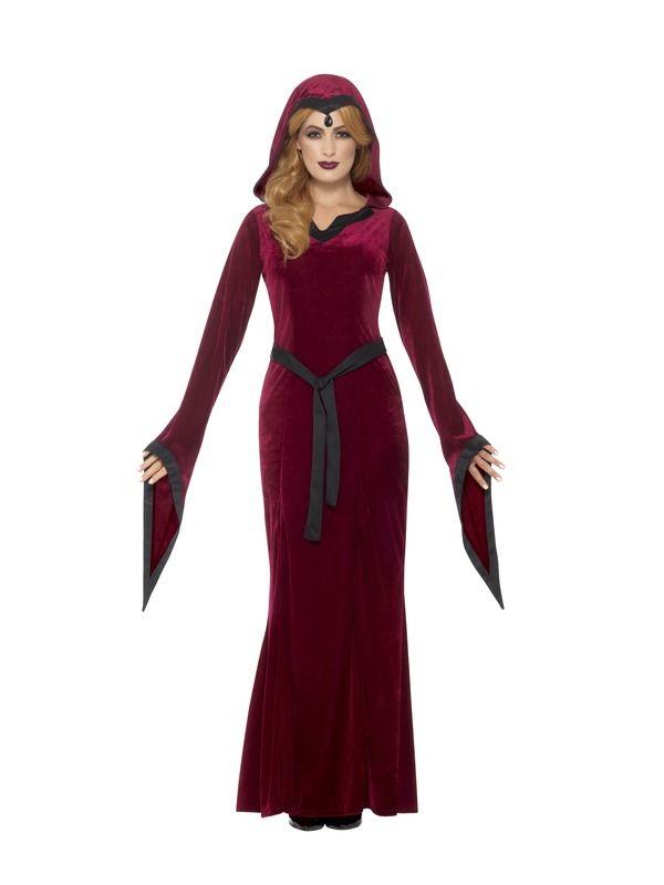 Medieval Vampiress Kostuum