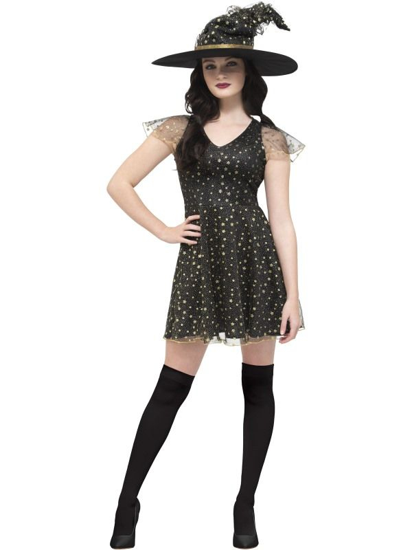 Fever Moon & Stars Witch Kostuum