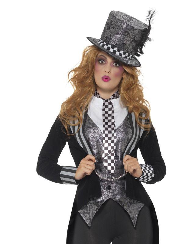 Deluxe Dark Miss Hatter Kostuum