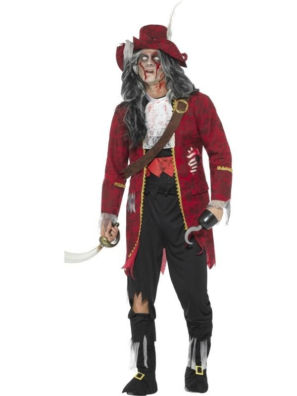 Deluxe Zombie Pirate Captain Kostuum