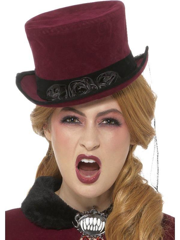 Deluxe Victorian Vampiress Hoed