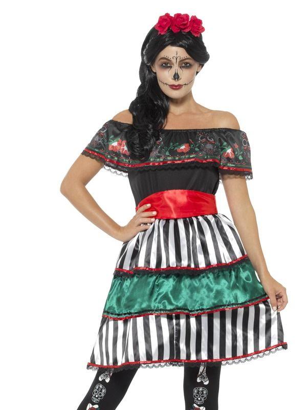 Day of the Dead Senorita Doll Kostuum