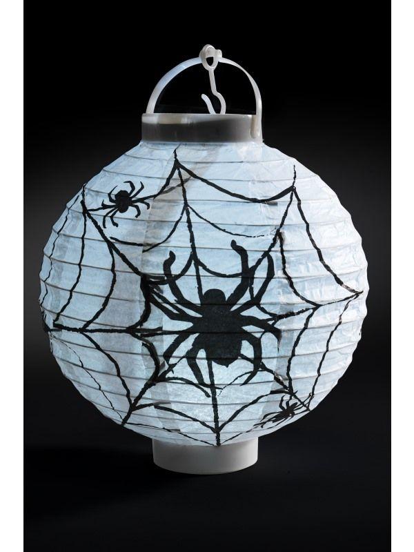 Light Up LED Paper Spider Web Lampion